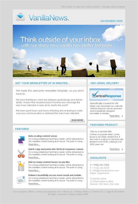 amazing of free email newsletter templates for microsoft word sample