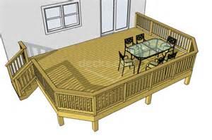 plans for a deck decks plans