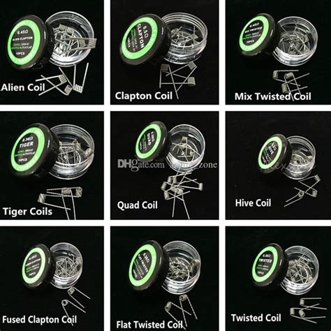 Mkws Pre Build Mix Twisted Coil 0 2 0 8 26ga 0 45 Ohm 10 Pcs Sku03339 Mix Twisted Coil Fused Clapton Coil Nichrome Wire