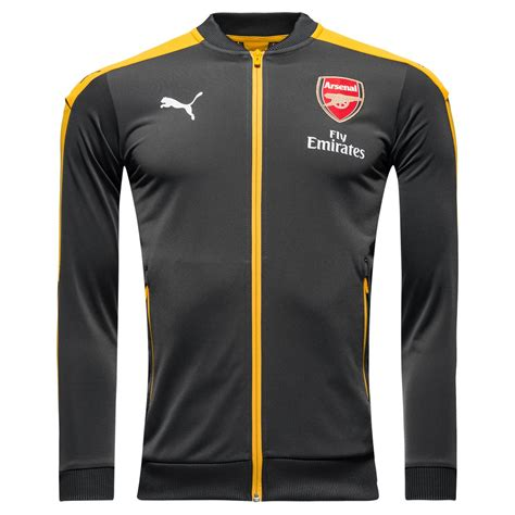 arsenal jacket 2016 2017 arsenal puma stadium jacket peacot yellow