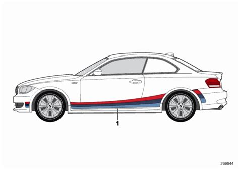 real oem bmw bmw factory m stripes for your 1m