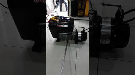 Winch Runva Ewg 10 000 runva 10 db motor electric winch test