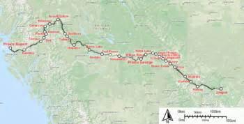via rail canada route map jasper prince rupert the free encyclopedia