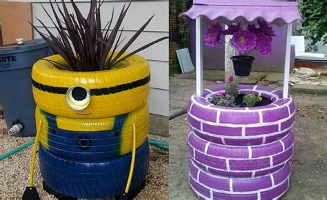 recycle ornaments ideas tire outdoor ornaments 17 recycling ideas