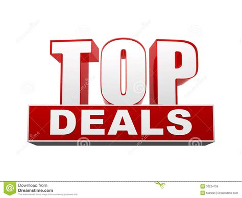 best tech deals site top deals in 3d letters and block royalty free stock