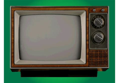 On Television television free vector stock graphics