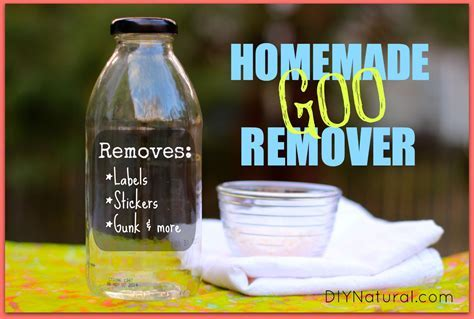 Adhesive Remover: A Natural Homemade Goo Gone Reicpe That