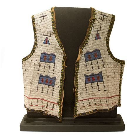 beaded vest antique american beaded vest circa 1890 sioux indian