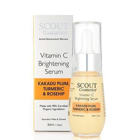 Vitamin C Serum Active Ingredients scout cosmetics vitamin c brightening serum nourished australia
