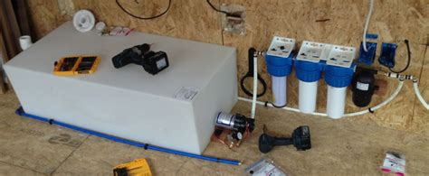 tiny house water system off grid water micro showcase