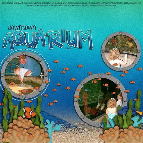 scrapbook layout aquarium 460 best images about scrapbooking on pinterest