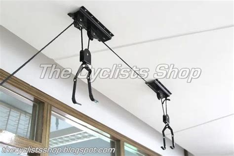 hang bike from ceiling the cyclists shop ceiling hanging bike display