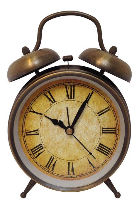 antique style brushed brass alarm clock chairish
