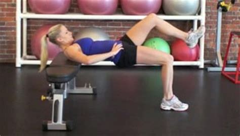 glute bridge on bench single leg glute bridge on bench exercise
