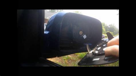 honda crv passenger mirror glass replacement youtube
