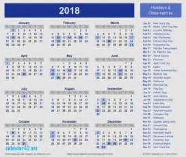 Kalender 2018 Malaysia Printable 2018 Calendar Holidays Malaysia Calendar