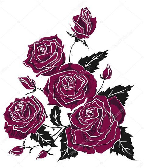 imagenes de rosas vectorizadas desenho de tatuagem de buqu 234 de rosas vetor de stock