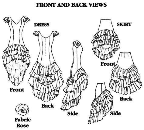 pattern making en espanol folkwear flamenco dress practice skirt w layers of