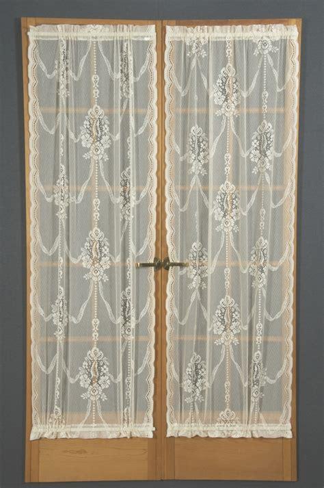 american balmore sheer lace door panels curtain shop
