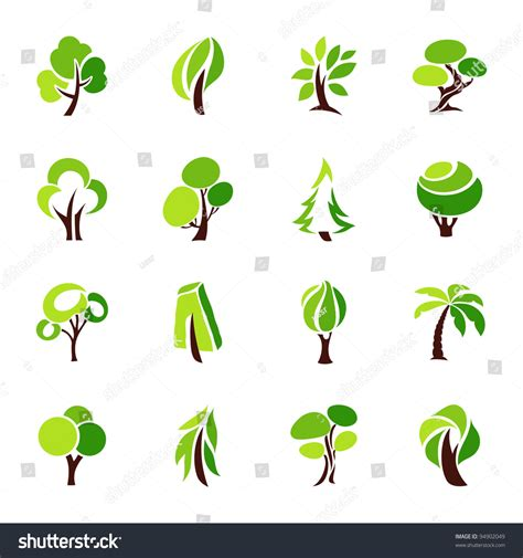 Trees Collection Design Elements Icons Set Stock Vector 94902049 Shutterstock Tree Collection Of Design Elements Stock Vector Illustration Of Icon Botany 32428346
