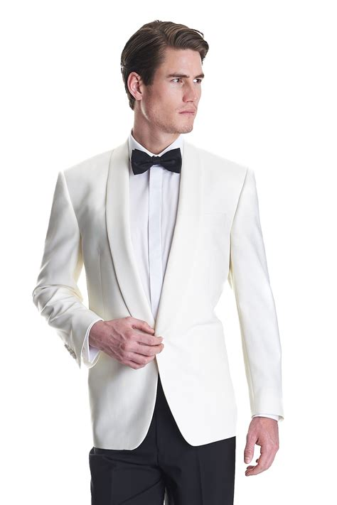 Sale E Buty White Jacket Only moss bros mens jacket white regular fit shawl collar