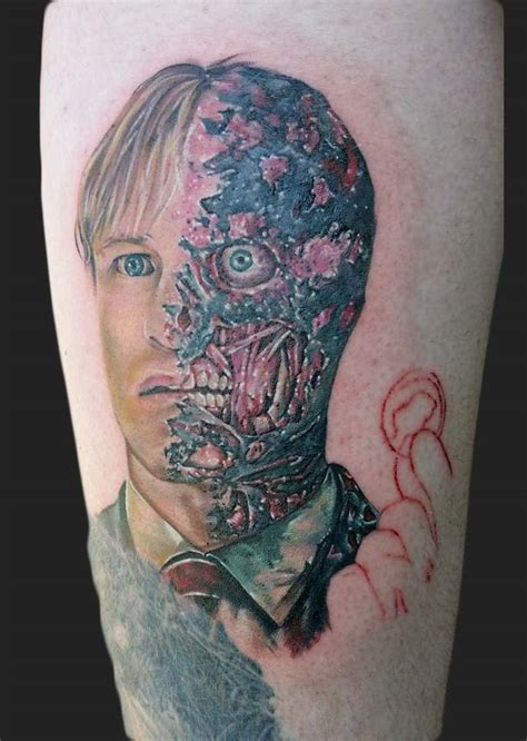 two face tattoos batman two
