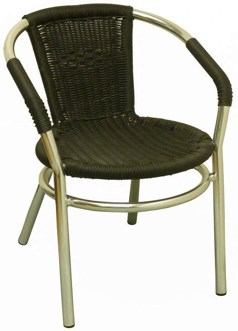 Faux Wicker Patio Chairs by Aluminum Patio Arm Chair With Black Faux Rattan