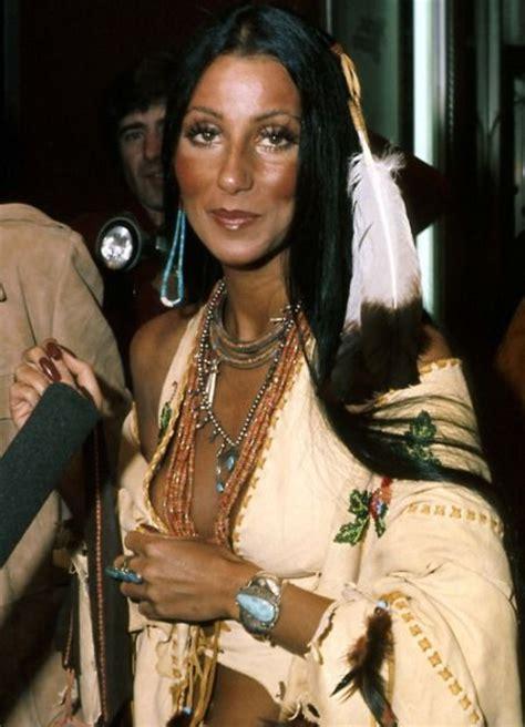 cherokee women long hair cher in native american clothing 1965 cher pinterest