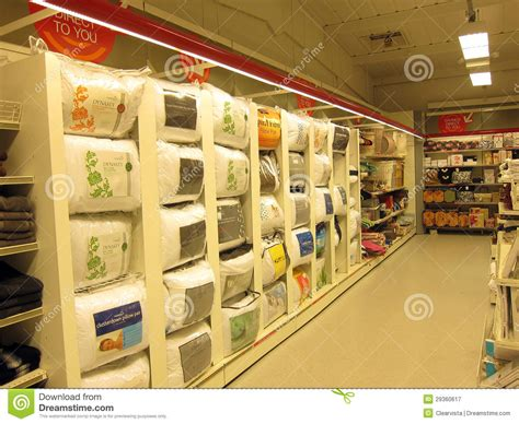 pillow display in a store editorial photography image of