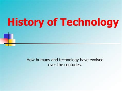 a history of id tech ppt what is technology powerpoint presentation id 3928745
