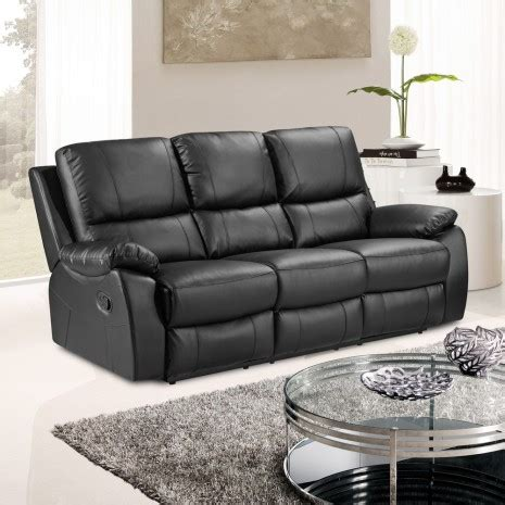 Fully Reclining Sofa Cameo Black Leather Reclining Sofa Collection