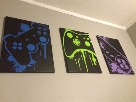 Video Game Wall Murals Video Game Controller Art By Controlfreakgameart On Etsy