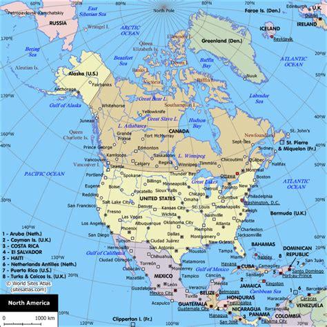 map  north america north america planetologcom