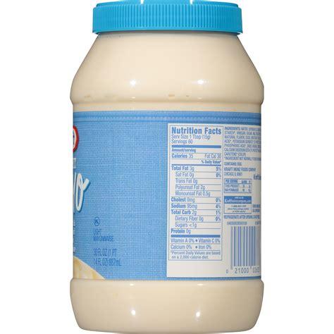 kraft light mayo nutrition facts kraft light mayonnaise nutrition facts blog dandk