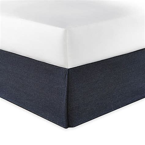 california king bed skirt buy nautica 174 seaward california king bed skirt in denim blue from bed bath beyond