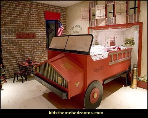 firefighter bedroom decor decorating theme bedrooms maries manor fire truck