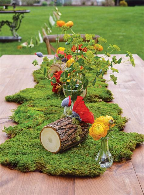 Enchanted Forest Table Decorations by An Enchanted Fourest Birthday For Hostess