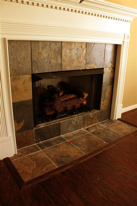 ceramic tile fireplace surround home decor ideas