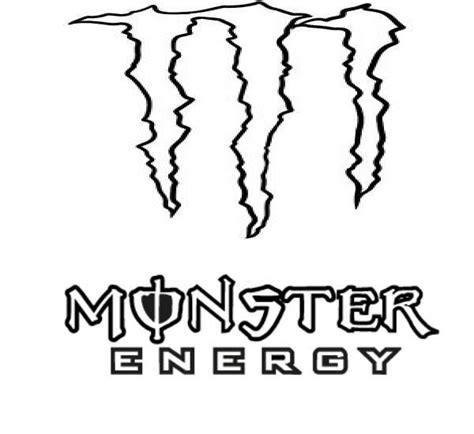 free coloring pages of monster energy