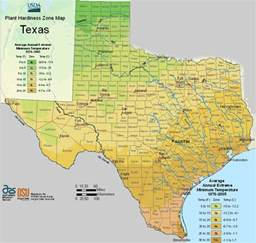 Zones For Gardening Map - usda texas planting zones map for plant hardiness