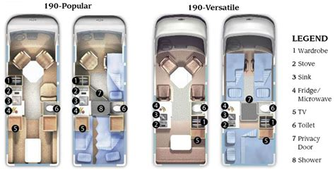Rv Camper Floor Plans by Roadtrek 190 Popular And 190 Versatile Class B Motorhome
