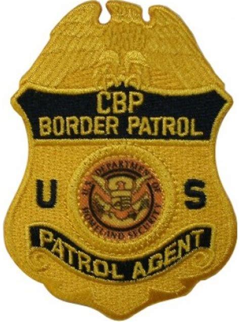 border patrol badge logo cbp patrol agent badge patch gold 5659