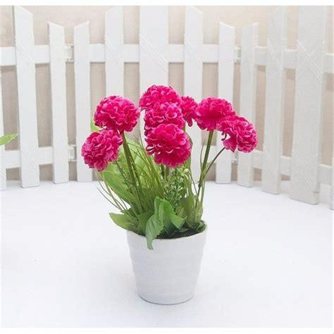 jual bunga hydrangea artificial pot bulat tanaman
