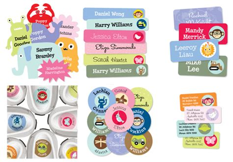 Aufkleber Kindernamen by Super Cute Name Labels From Mooo Babyccino Kids Daily