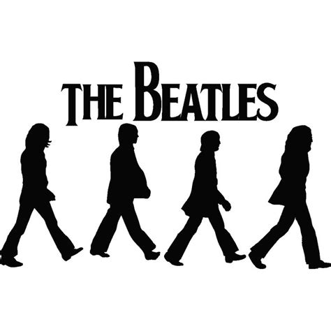 The Beatles Black Logo images for gt beatles silhouette road swag