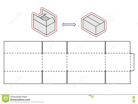 cardboard template horizontal box template vector packing simple cardboard