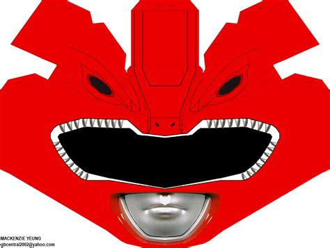 Power Rangers Papercraft - tyranno ranger helmet by 80sguy on deviantart