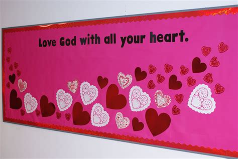 valentines day boards s day church bulletin board display god