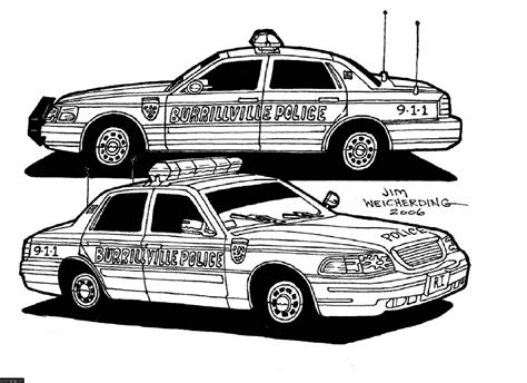 free police police cars coloring pages