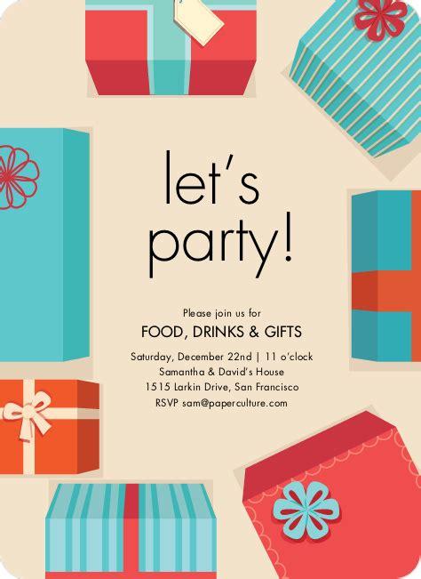 gift exchange gift exchange invitations paper culture